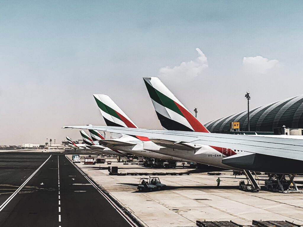 Dubai International Airport on arrival