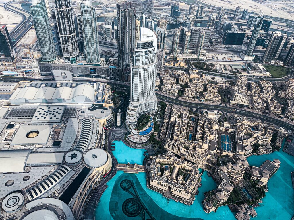 Looking from top of Burj Khalifa