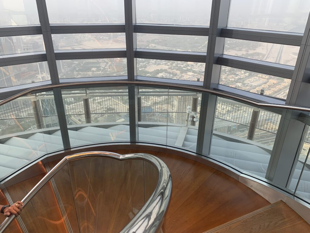 Stairs on the top of the Burj Khalifa