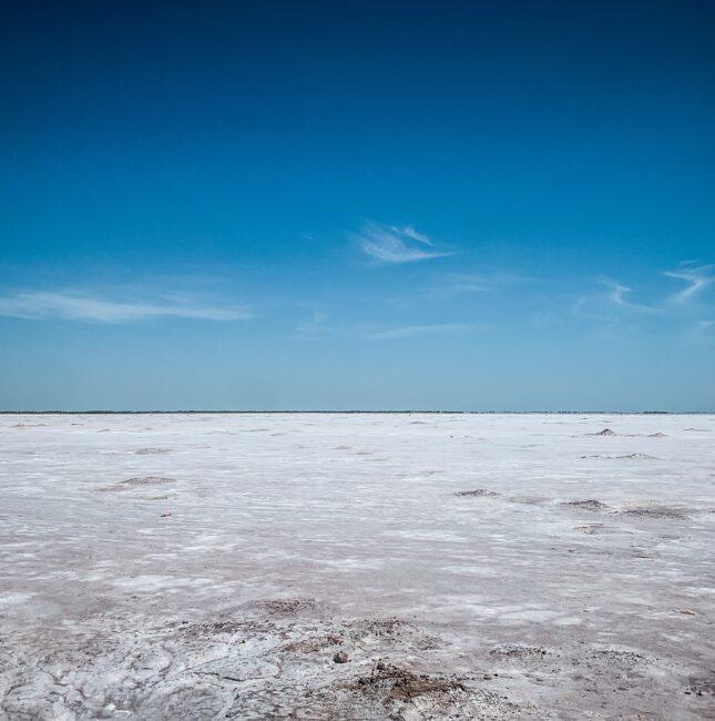 viewing the salt plains