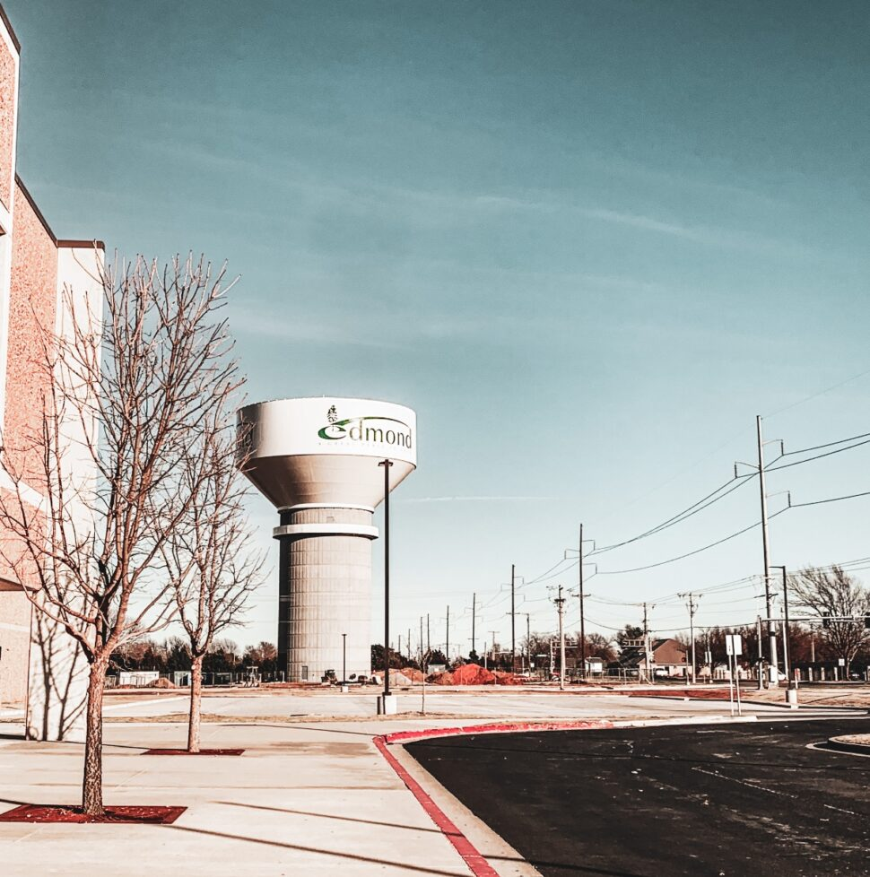 View of Edmond water tower